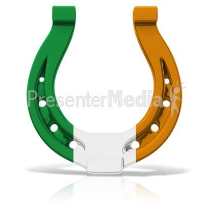 Irish Colored Horseshoe Presentation clipart