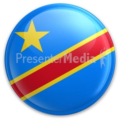 Badge of Democratic Republic of Congo Presentation clipart