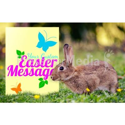 Easter Bunny Sign Presentation clipart