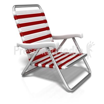 Summer Beach Chair Presentation clipart