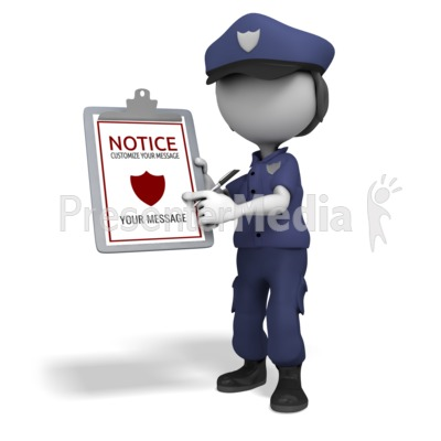 Police Officer Clipboard Presentation clipart