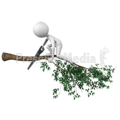 Cutting Branch Wrong Presentation clipart