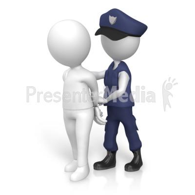 Figure Arrested Police Presentation clipart