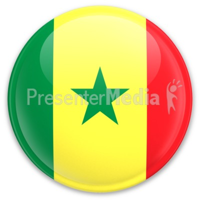Flag Senegal Button Presentation clipart