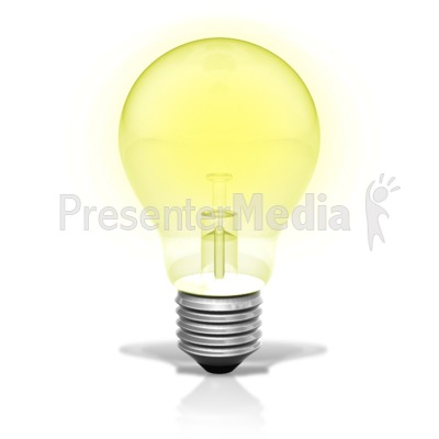 Single Light Bulb Illuminated Presentation clipart