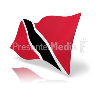 Flag Trinidad And Tabago Presentation clipart