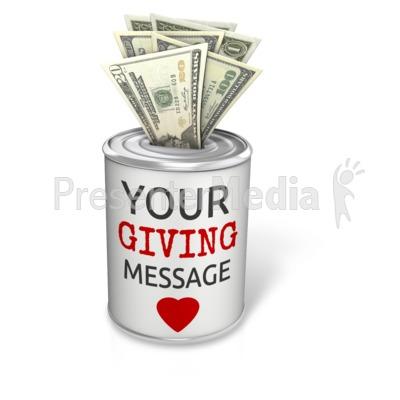 Donation Can Dollar Presentation clipart