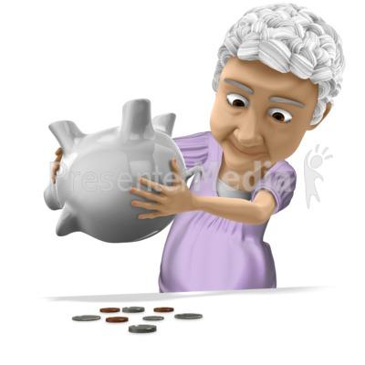 Bernice Tipping Piggy Bank Presentation clipart