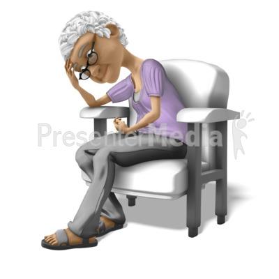 Bernice Sad Chair Presentation clipart