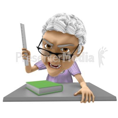 Bernice Teacher Angry Presentation clipart