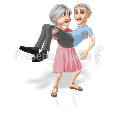 Martha Carrying Bert Presentation clipart
