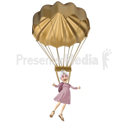 Martha Golden Parachute Presentation clipart