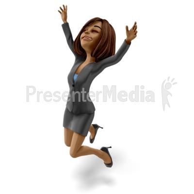 Talia Jumping Celebration Presentation clipart