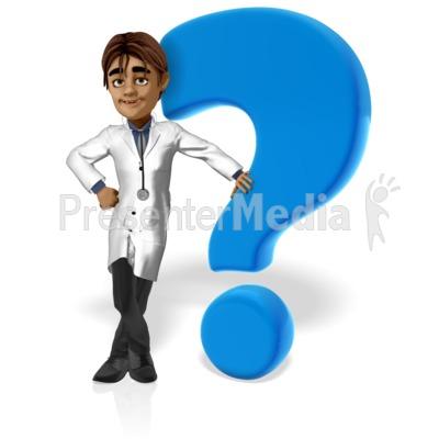 Doctor Simon Question Mark Presentation clipart