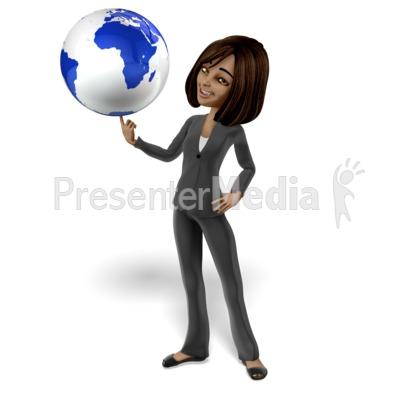 Talia Spinning World on Finger Presentation clipart