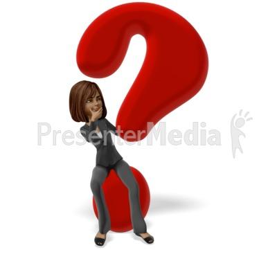 Talia Question Mark Presentation clipart