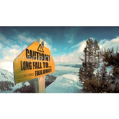 Cliff Warning Sign Presentation clipart
