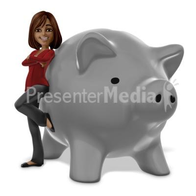 Talia Piggy Bank Presentation clipart