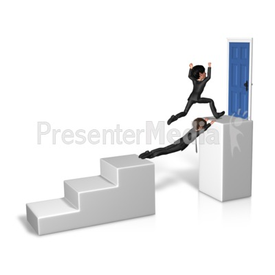 Goal Overcome Obstacle Presentation clipart