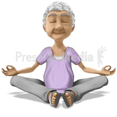 Bernice Meditate Presentation clipart