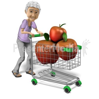 Bernice Healthy Shopping Presentation clipart