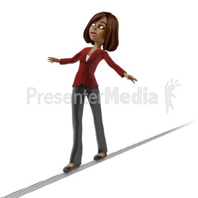 Talia On Tight Rope Presentation clipart