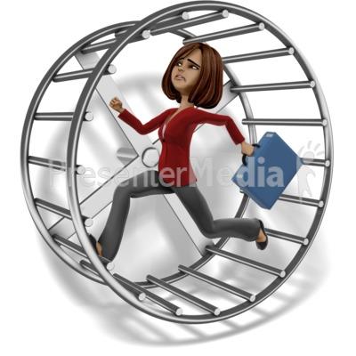 Talia Running Hamster Wheel Presentation clipart