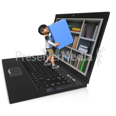 James Reaching For Book Presentation clipart