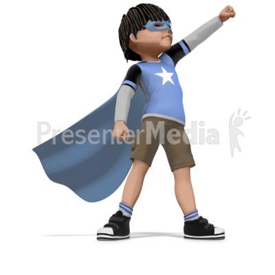 Boy Super Hero Presentation clipart