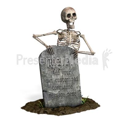 Skeleton Grave Custom Presentation clipart
