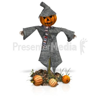 Scarecrow Pumpkins Presentation clipart