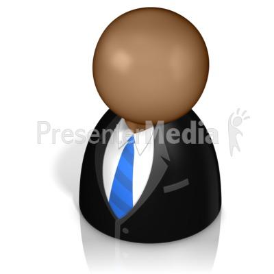 Businessman Pawn Presentation clipart