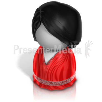 Woman Pawn Evening Gown Presentation clipart
