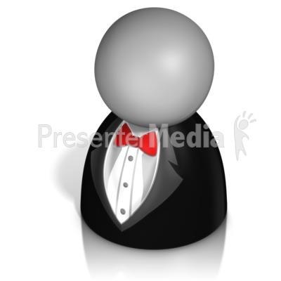 Pawn Figure In Tux Presentation clipart