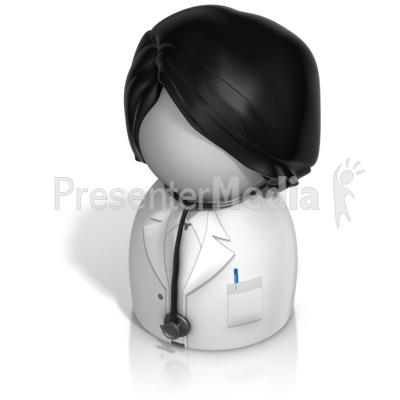 Woman Doctor Pawn Presentation clipart