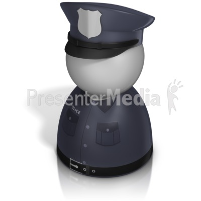 Police Officer Pawn Presentation clipart