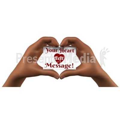 Heart Hands Holding Card Presentation clipart