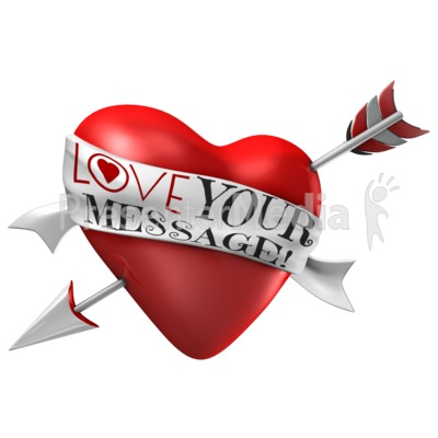 Arrow Through Heart - Custom Ribbon Presentation clipart