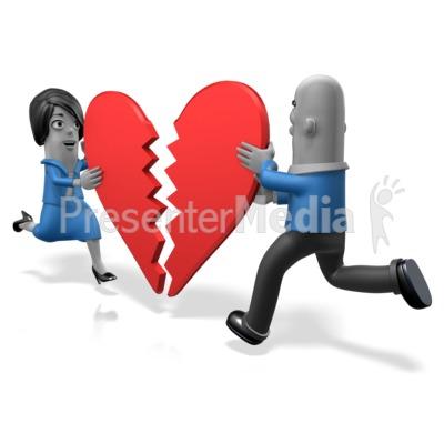 Biz People Heart Pieces Presentation clipart