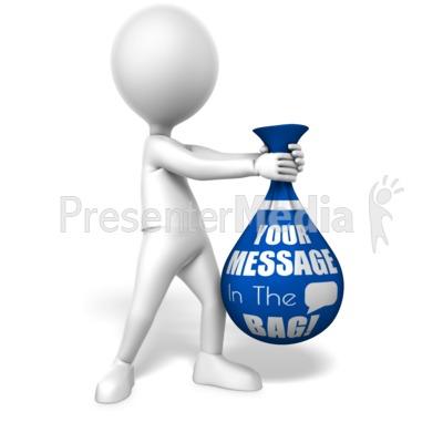 Figure Holding Bag Presentation clipart