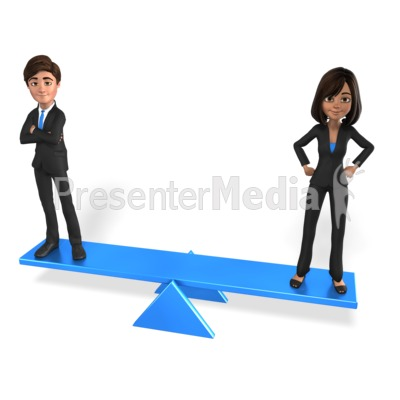 Man Woman Equal Balance Presentation clipart