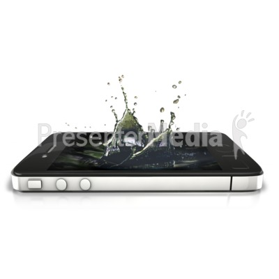 Phone Splash Presentation clipart