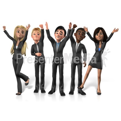 Group Buisness People Cheer Presentation clipart