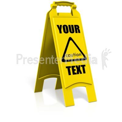 Caution Floor Sign Presentation clipart
