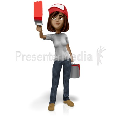 Talia Painting Wall Presentation clipart