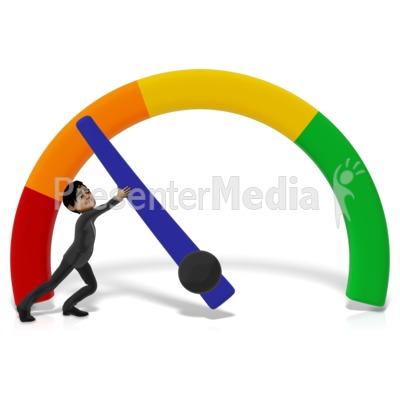Businessman Stopping Gauge Presentation clipart