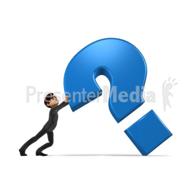 Holding Up Question Mark Presentation clipart