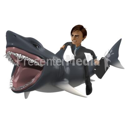 Businessman Shark Presentation clipart