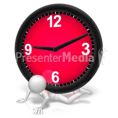 Pressure Under The Clock Presentation clipart