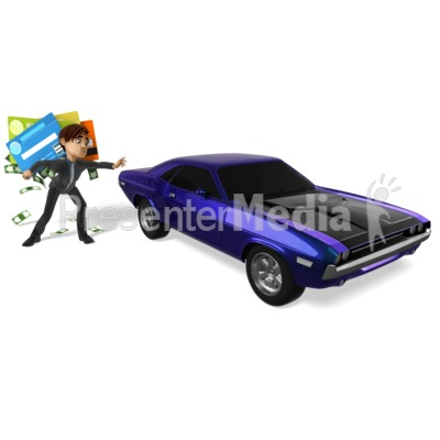 Grant Tempted To Buy Car Presentation clipart